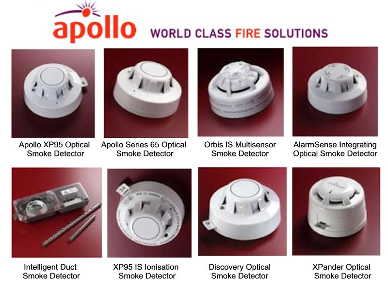 Examples Of Apollo Smoke Detectors Supplied By Clc Fire Alarms Throughout Ireland Xp95 Optical Series 65